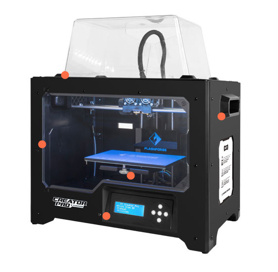 Stock photo of Flashforge Creator Pro 3D printer