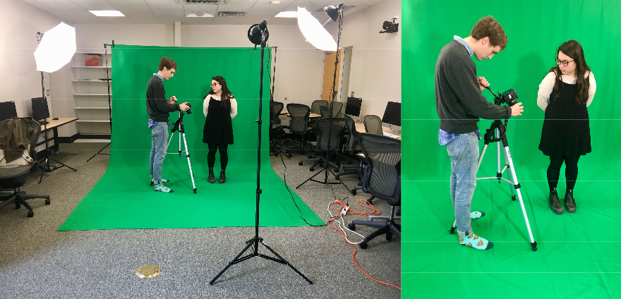 A green screen for video production and editing comes to Library 222