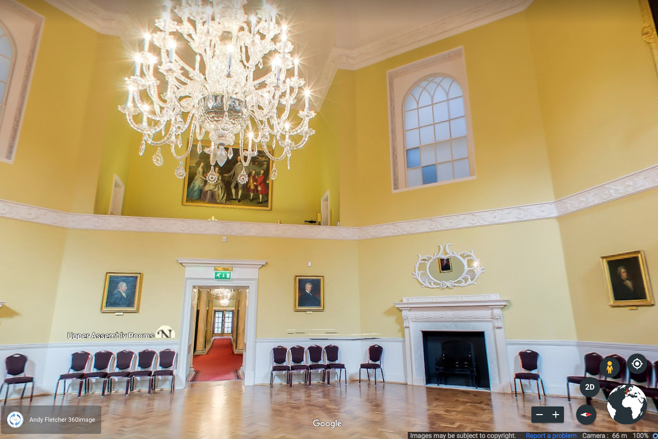 A photo from inside the Octagon Room